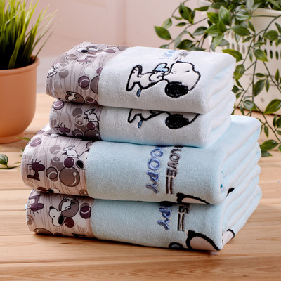 Image 4 - ZHUO MO 3 Piece Quick Drying Cartoon Microfiber Towel Set Bath Towel Face Beach Towel 450g Water absorbent toallas for Bathroom-in Towel Sets from Home & Garden