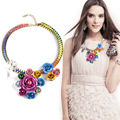 HOUDA N00192 necklaces & pendants fashion Unique costume chunky choker personal statement flower jewelry for women