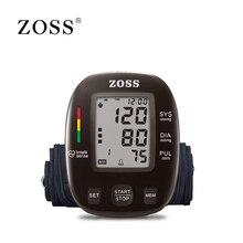 ZOSS английский или Русский Голос три цвета подсветка ЖК дисплей предплечье приборы для измерения артериального давления мониторы heart beat ин