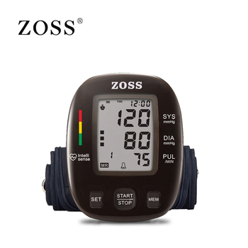 ZOSS latest models English or Russian Voice German chip LCD upper arm blood pressure monitor heart beat instrument tonometer