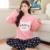2016 Primavera Otoño Invierno 100% Algodón Pijamas de las mujeres Conjunto de y Pantalones Amante de Dormir Señora Ropa Casual En El Hogar
