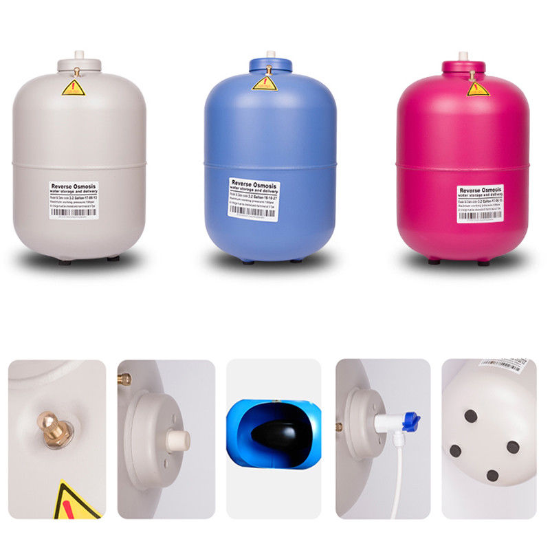 New 12L 3.2 Gallon Alloy Residential Pressure Water Storage Tank For Reverse Osmosis (RO) Systems Water Purifier Filter Kits