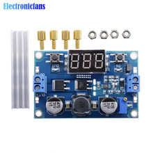 DC-DC 100W 3-35V 12V to 3.5-35V Boost Step-up Module Step Up Power Supply LED Voltmeter Comes with Heat Sink(China)