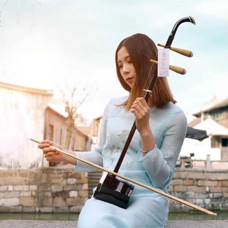 Vente chaude Erhu Chinois deux cordes Violon Violon Exclusif Gravé Code Avec Accessoires et Arc adapté Pour débutant