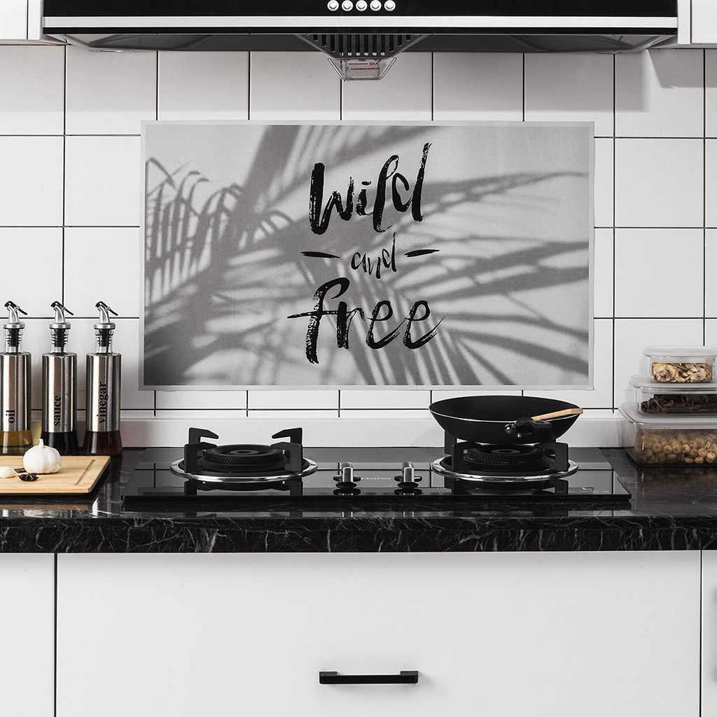 מטבח דביק טמפרטורה גבוהה אנטי-שמן מדבקות ביתי רדיד אלומיניום מטבח ארון מדבקה דקורטיבי עמיד למים