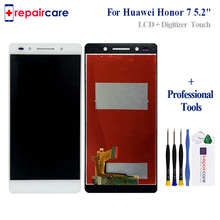 5.2 100% Tested For Huawei Honor 7 LCD Display Touch Screen Digitizer Assembly Replacement With Frame