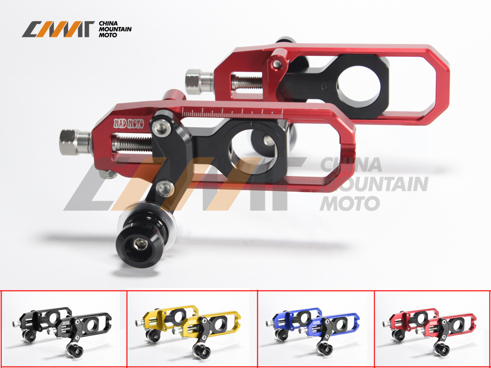 4 цвета алюминия с ЧПУ мотоцикл цепи Регулятор Чехол для Кавасаки ZX-10r с 2008-2010 09 регулировки цепи