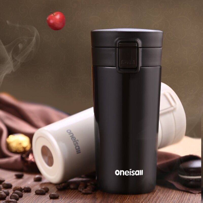 Thermomug Thermos For Coffee Mug With Lid Thermal Cup Bottle Water Bottles Gl Tumbler Vacuum 12 Oz In Mugs From Home Garden On
