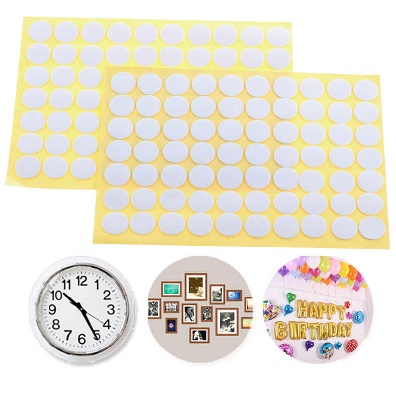 2set=140pcs Multifunction round adhesive pad double sided foam tape strong pad DIY photo decorative article wall pendant use.