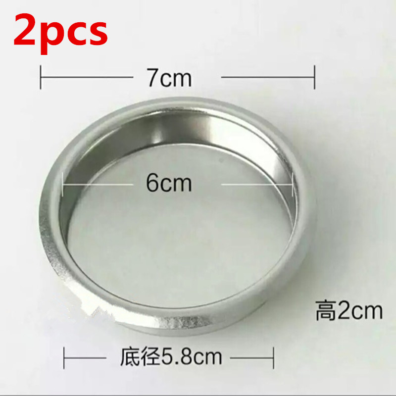 2pc Semi-automatic Coffee Machine Parts Backwash Bowl Coffee machine brewing head Clean Blind Bowl No Hole Filter Cup 58mm effort ef 830 58mm electronic cashing machine ftp 628mcl 101 print head