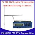 Fmuser FU-15B 15 Вт жк-fm-радио-передатчик управления пк DP100 дипольная антенна с адаптером питания кабель бесплатная доставка