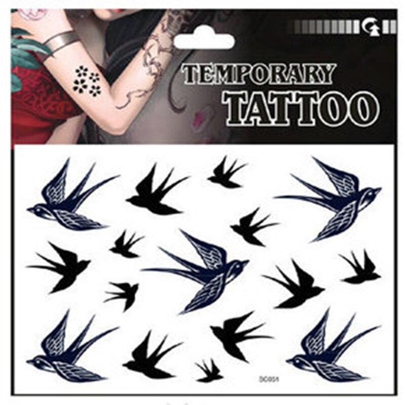 ᐂtwórczy Ptak Wzór Ciała Beauty Art Tattoo Naklejki