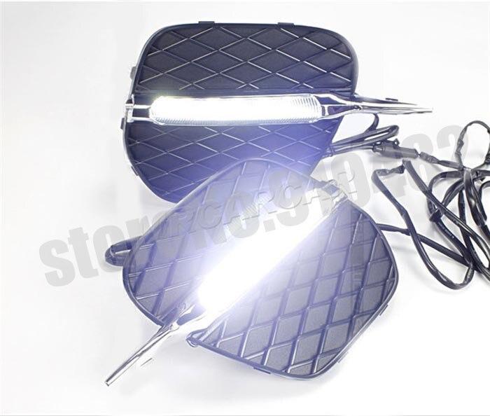 Free Shipping Car LED Daytime running light LED DRL daytime running light with fog lamp cover