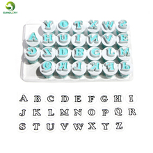 26PCS Upper&Lowercase Alphabet Cookie Cutter Plastic Capital Letters Fondant Baking Cupcake Mold Cake Decorating Tools
