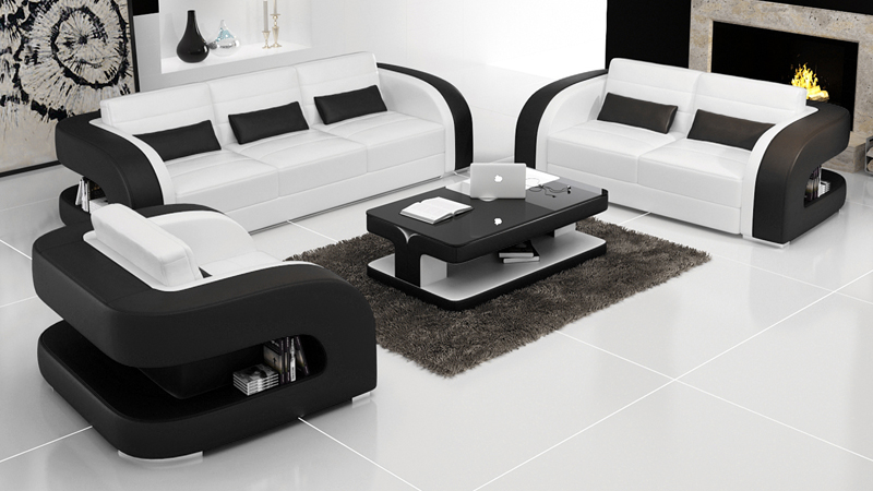 New Sofa Design Modern Leather Sofa-in Living Room Sets