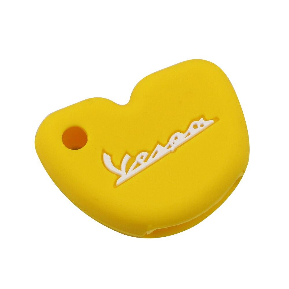 Силиконовый чехол для ключей от машины защитный чехол s подходит для Vespa Enrico Piaggio GTS300 LX150 Fly 125 3vte Gts 200 ключ для мотоцикла - Название цвета: Yellow
