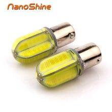 Nanoshine 2 unids led 1157 BAY15D P21/5 W COB Blanco Rojo amarillo Coche cola Bombillas 21/5 W Luz de Freno auto Faros Antiniebla Luz de Circulación Diurna