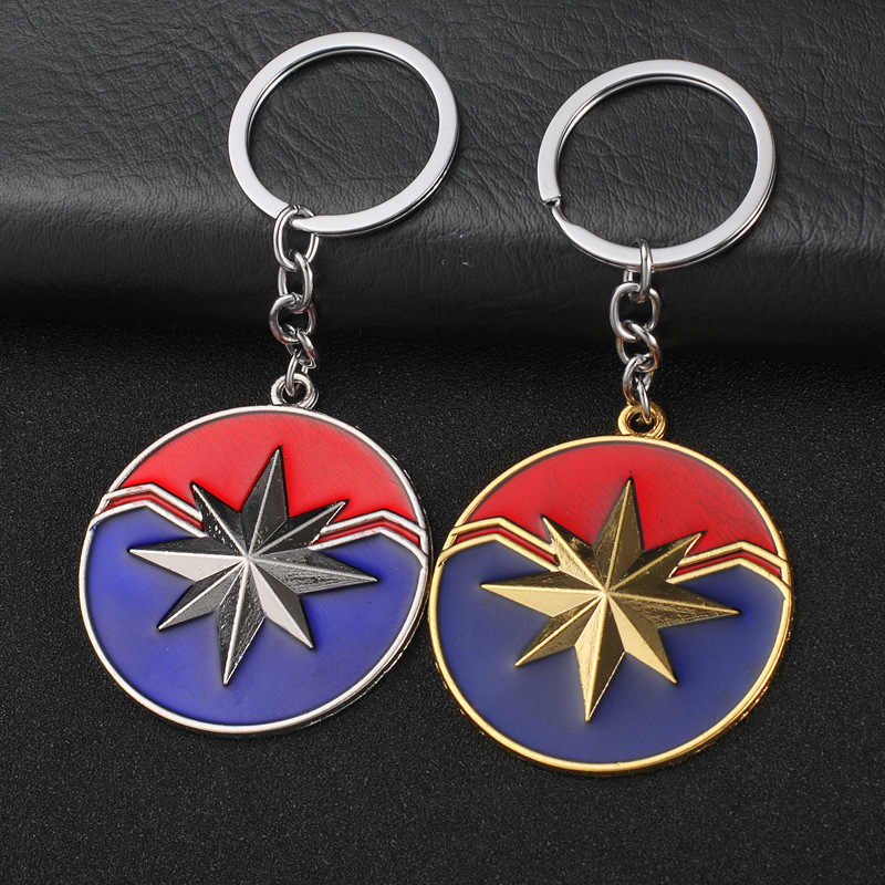 Captain Marvel Carol Danfoss Marvel Surprise Captain Super Girl Keychain Captain Marvel Avengers 4 Keychain Keychain
