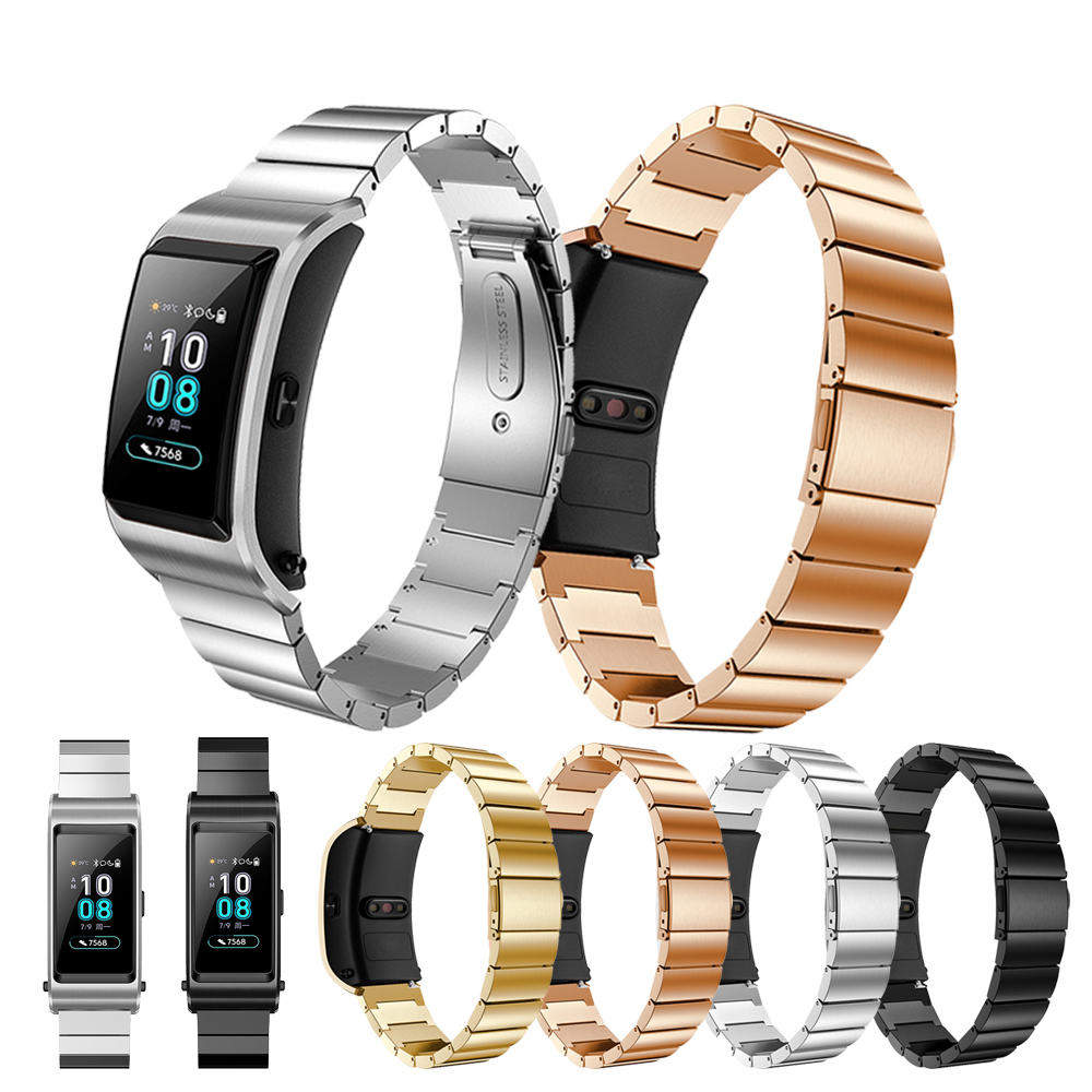 Accessories Stainless Steel For Huawei B5 Smart WatchStrap Watch Bands For Huawei B5 Watchband metal Bracelet Wrist Band Luxury in Watchbands from Watches