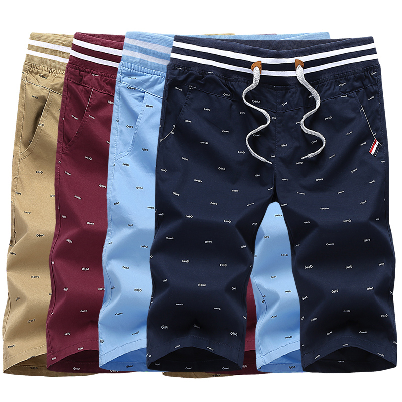 2019 New Arrival Men Shorts Cotton Shorts For Men Elastic Waist Summer Beach Shorts Personalized Printed High Quality in Board Shorts from Men 39 s Clothing