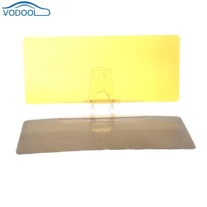 VODOOL Auto Sonnenblende HD Anti-Glare Dazzling Goggle 2 in 1 Tag Nacht Vision Rückspiegel UV Falten flip Unten Klare Sicht