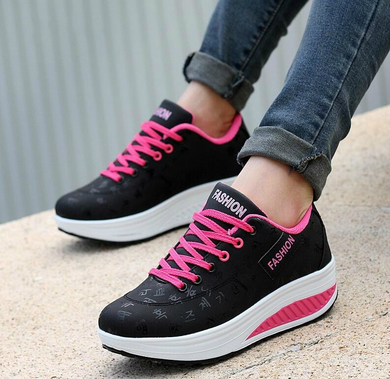 NEW Fashion Women Height Increasing Summer Breathable Waterproof Wedges Sneakers Platform Shoes Woman Pu Leather Casual Shoe new fashion women height increasing summer breathable waterproof wedges sneakers platform shoes woman pu leather casual shoe