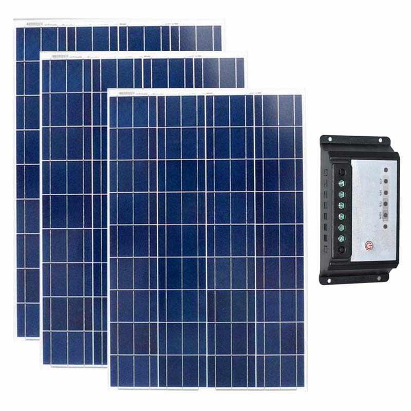 Kit Solar 300w Pannelli Solari Fotovoltaici 12v 100w 3 Pcs Solar Charger Controller 12v 24v 20a Boats Yachts Solar Home System