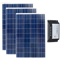 Комплект солнечных 300 Вт Pannelli Солари Fotovoltaici 12 В 100 Вт 3 шт. Солнечный Зарядное устройство контроллер 12 В/24 В 20A лодки яхты Солнечный дом Системы