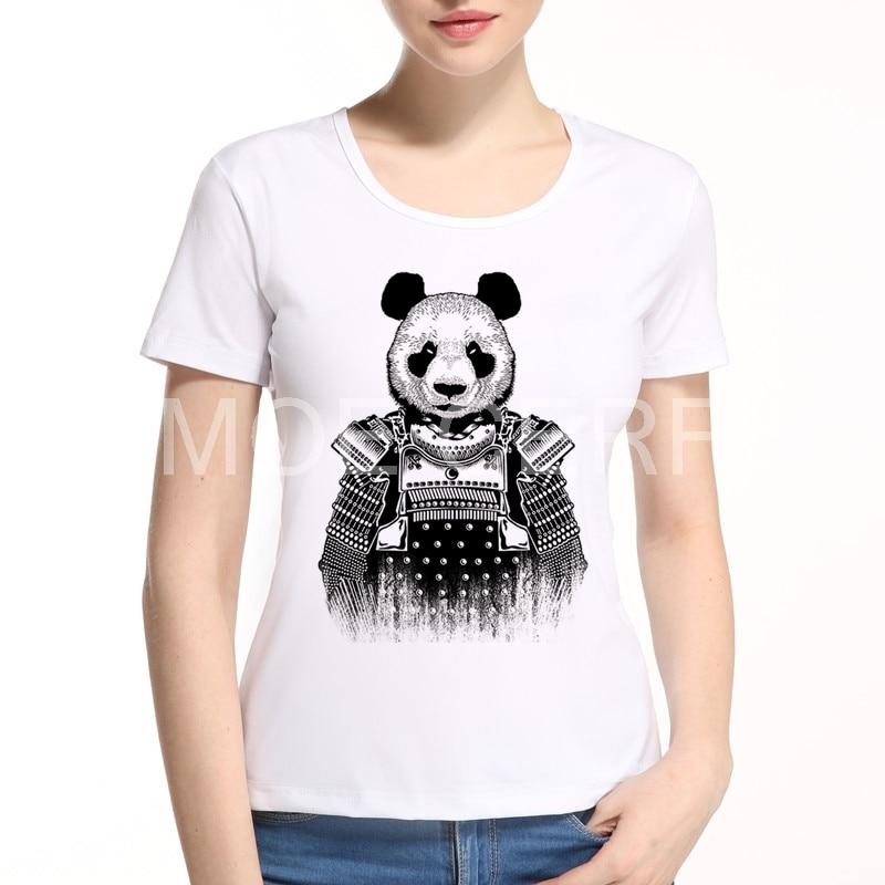Latest Styles Panda Warrior women T-shirt Fashion Girl Short Sleeve Clothes Kawaii Animal Top Holiday gift Brand clothing E1-20#