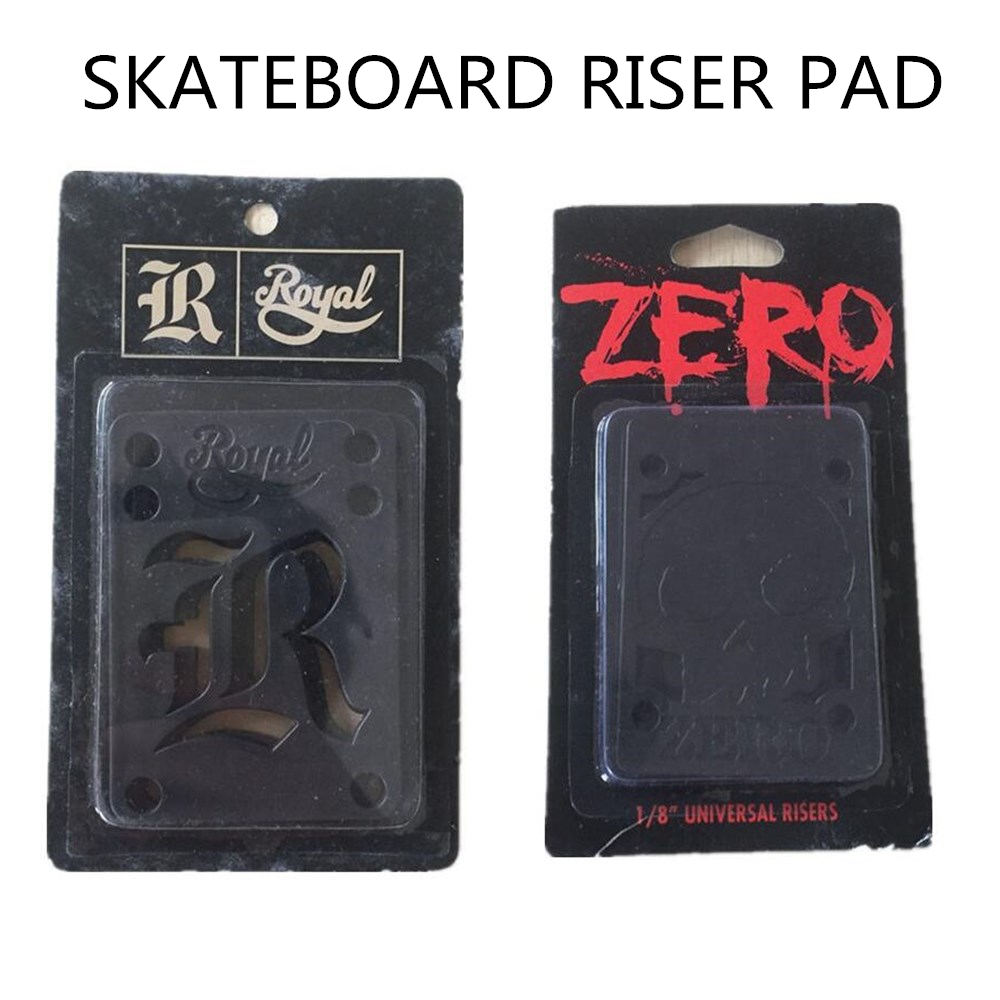 Riser Pads Light-Weight Skateboard Riser Pads for ekstra beskyttelse mellom Skate Deck & Trucks