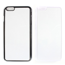 DIY Case for iPhone6 Metal Insert PC Back Cover For iPhone 6 6s plus Sublimation Cases Cover 2D heat transfer Blank coque fundas недорого