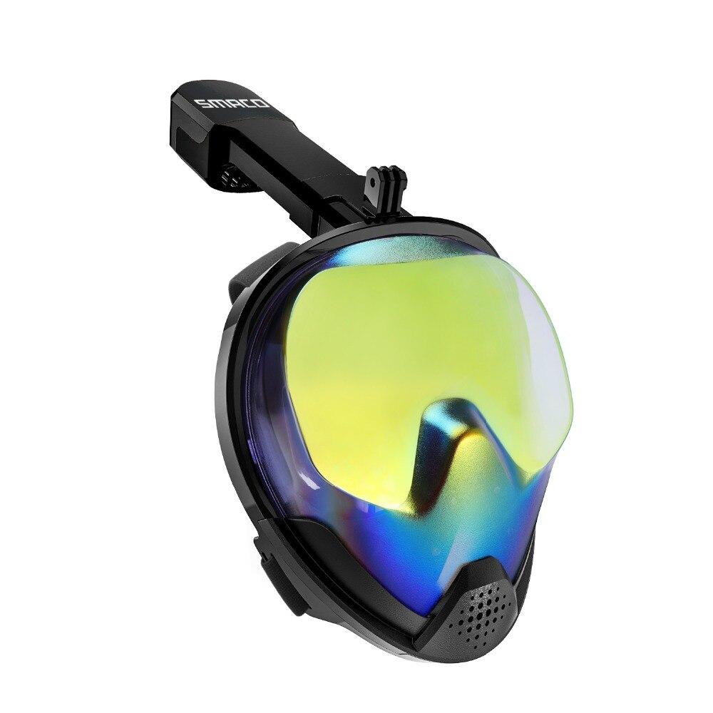 SMACO Snorkel Máscara Facial com Proteção UV Anti-Fog Destacável Camera Mount 180 graus Vista Panorâmica