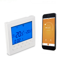 WiFi Thermostat LCD Touch Screen Backlight Temperature Controller For Gas Boiler Heating APP Remote Controls Weekly Programmable цена и фото