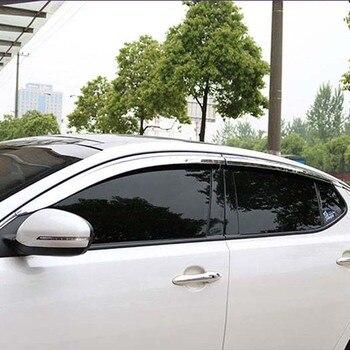 Brand New 1 Set Chrome Side Rain Guard Deflectors Vent Sun Shade Window Visors  For Kia K5 2011-2015