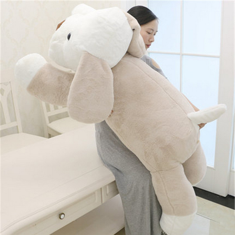 Fancytrader Giant Plush Puppy Doll Big Soft Lying Dog Stuffed Animals Pillow Toys for Children cute labrador big plush toy lying dog doll search and rescue stuffed toys children birthday gift pillow