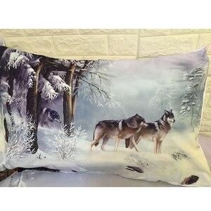 Image 5 - Juego de ropa de cama con funda de edredón de Snow Wolf, cama doble, tamaño King Size, 3 uds.