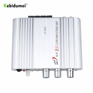Image 5 - Car 3 Channel Amplifier Stereo Mega Bass LP 838 12V 300W Hi Fi Connect With Phone PC DVD Player MP3 MP4 Portable Subwoofer