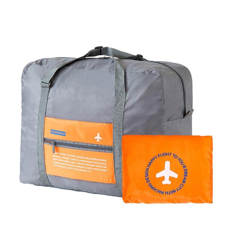 US $7 24 26% OFF|Foldable WaterProof Nylon Travel Bag Unisex Luggage Travel  Duffle Large Capacity Bag Women Folding Handbags-in Travel Bags from