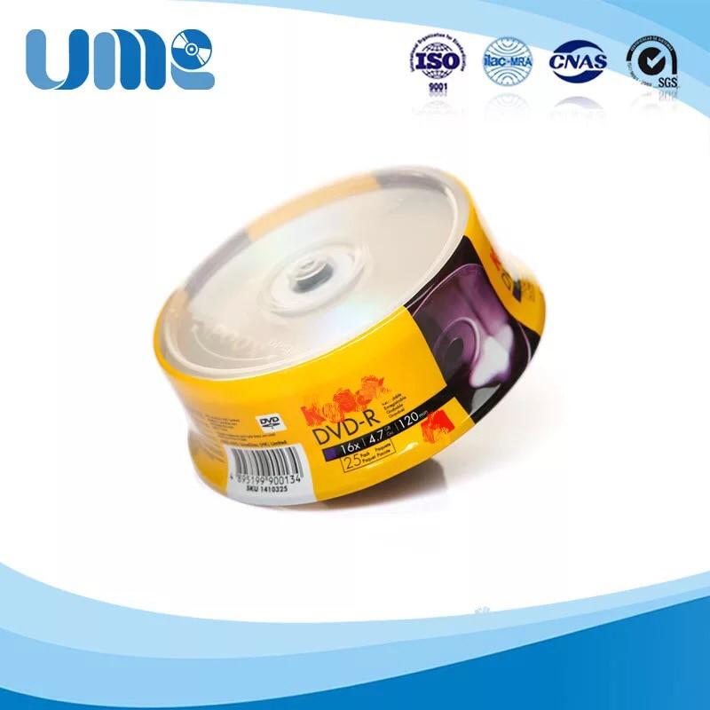 Wholesale 5 Discs 100% Authentic K-Brand Blank Printed 4.7GB 16X DVD-R Discs