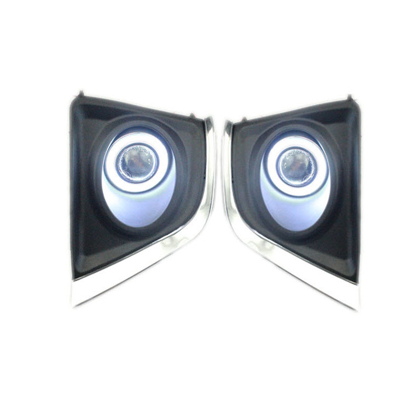 LED COB Angel Eyes DRL Yellow Signal Light H11 Halogen / Xenon Fog Lights with Projector Lens For Toyota Corolla 2014-2017 E170