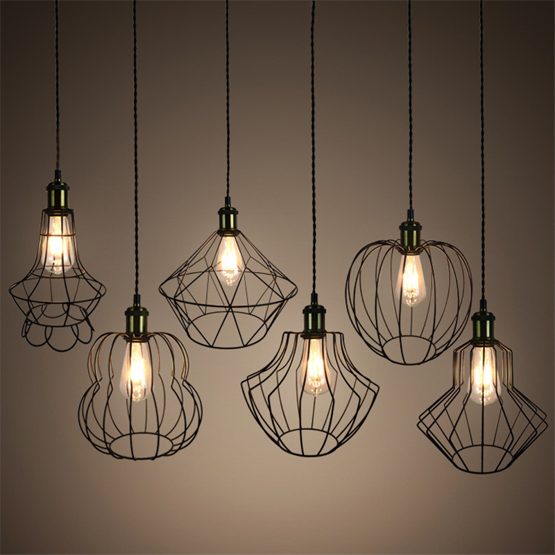 New style retro birdcage Pendant Light creative E27 Iron Industrial wind Pendant Lamp for Restaurant bar balcony bedroom edison loft style vintage light industrial retro pendant lamp light e27 iron restaurant bar counter hanging chandeliers lamp