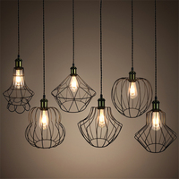 New Style Retro Birdcage Pendant Light Creative E27 Iron Industrial Wind Pendant Lamp For Restaurant Bar