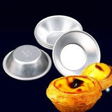 10pcs Aluminum Famous egg tart mould Small Cake Mold