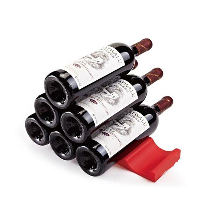 Fácil Apilador! Silicona Beer Wine Bottle Rack Titular Pila de Botellas y Latas