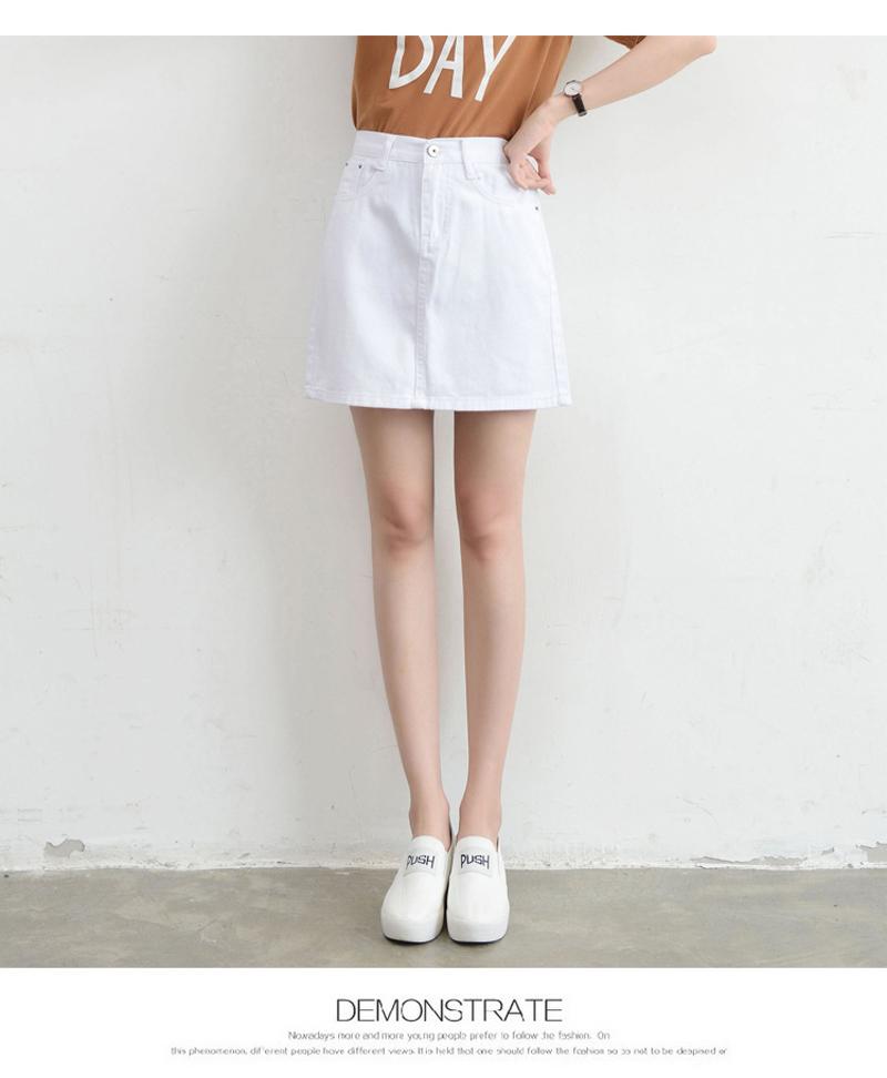 Lucyever Fashion Korean Summer Women Denim Skirt High Waist Black Mini Skirts Package Hip Blue Jeans Harajuku Plus Size Cotton 33