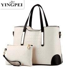 YINGPEI, женская сумка, винтажная сумка-мессенджер, сумка через плечо, женская сумка с верхней ручкой, с узором «крокодиловая кожа», композитная сумка, кошелек, кожаный кошелек