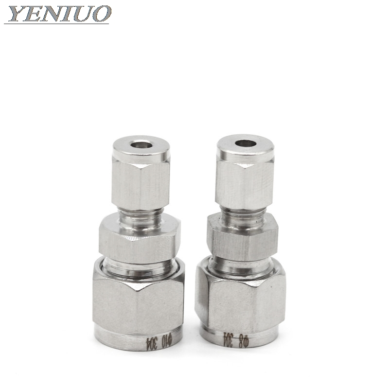 """SS 304 Double Ferrule Compression Fitting Straight Union Connector 1//4/"""" OD"""