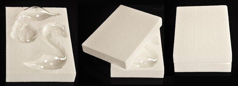 Прозрачный стеклянный лебедь ваза для цветов украшения ручной работы ремесла свадебный подарок домашнего декора горячая распродажа