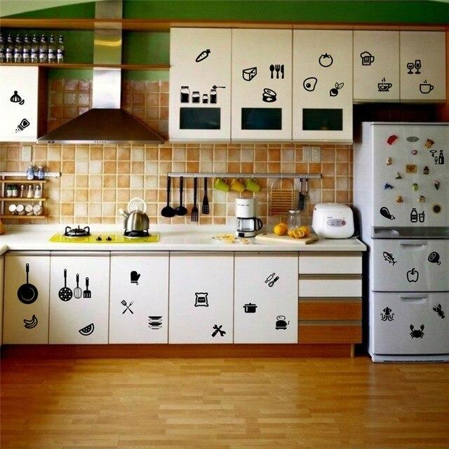 Diy Dapur Pakaian Makanan Cangkir Pecah Rumah Decal Stiker Dinding Untuk Ruang Makan Memperingatkan