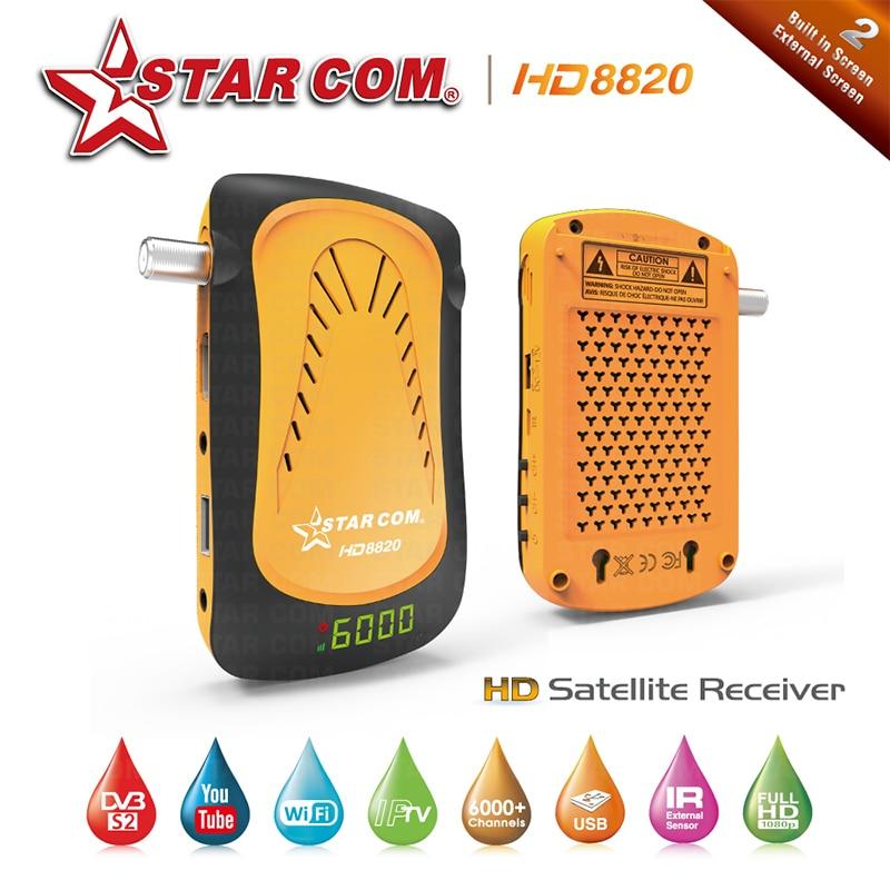Starcom HD8850 Satellite TV Receiver With Free Arabic IPTV Full HD Digital TV BOX With YOUTUBE DVBS2
